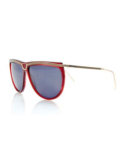 Vintage Sunglasses w/Center Detail, Red