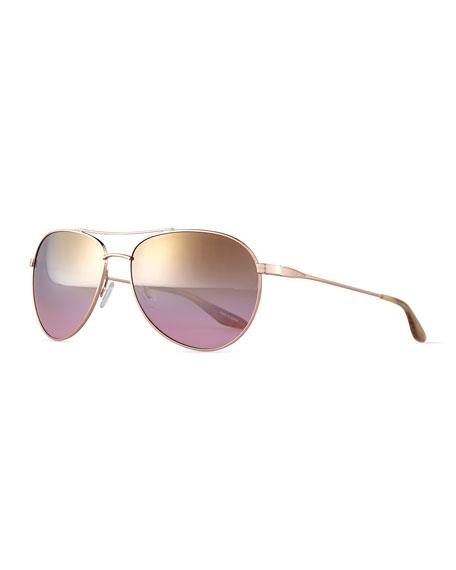 Barton Perreira Universal Fit Lovitt Aviator Sunglasses,