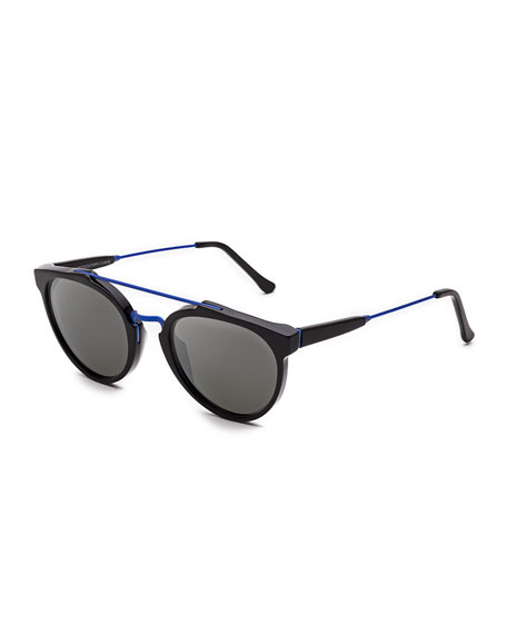 Super by Retrosuperfuture Giaguaro Double-Bridge Sunglasses,