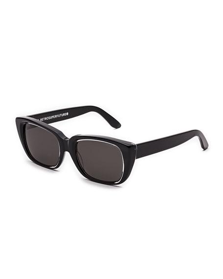 Super by Retrosuperfuture Lira Cat-Eye Sunglasses, Achromatic