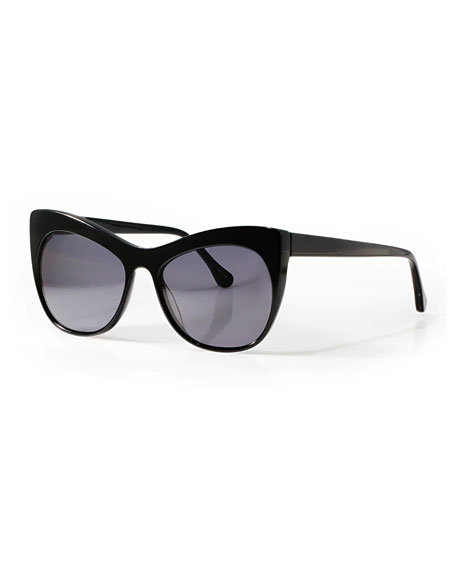Lafayette Cat-Eye Sunglasses, Black