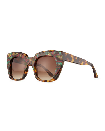 Intimacy Cat-Eye Sunglasses, Tortoise