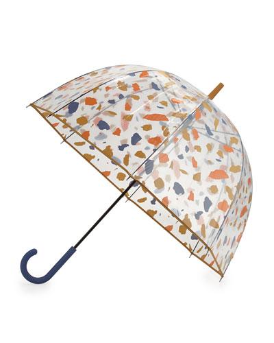 Original Terrazzo Print Bubble Umbrella