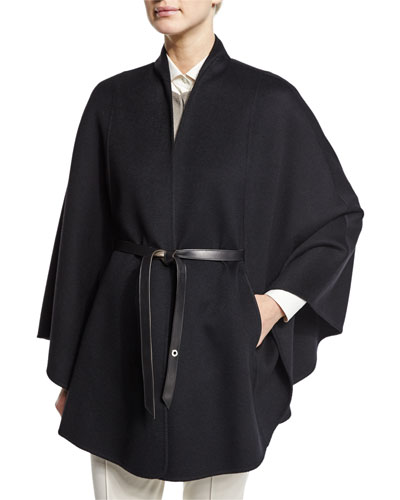 Anversa Belted Cashmere Cape