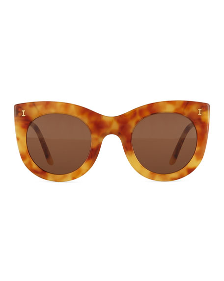 Boca Cat-Eye Sunglasses, Amber