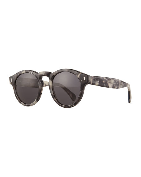 Illesteva Leonard Round Sunglasses, Gray