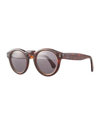 Leonard Trimmed Sunglasses, Havana