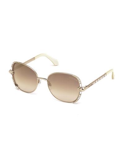 Butterfly Sunglasses w/ Swarovski® Crystals