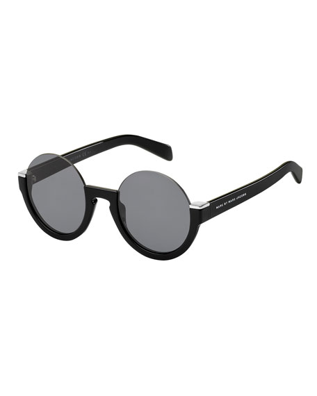 Semi-Rimless Round Sunglasses