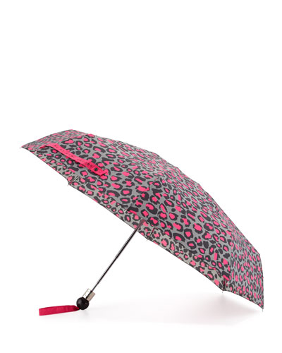 Painted Leopard Umbrella, Raspberry Sorbet