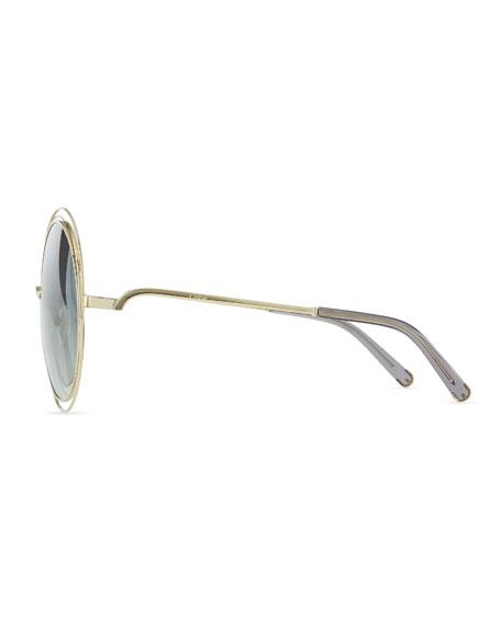 Carlina Metal Oversize Sunglasses