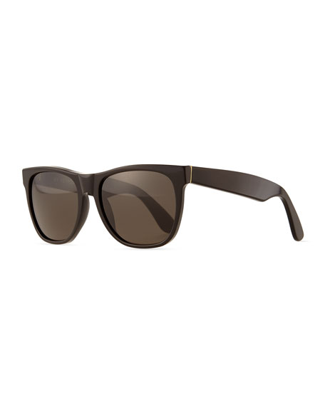 Super by Retrosuperfuture Basic Rectangle Sunglasses, Black