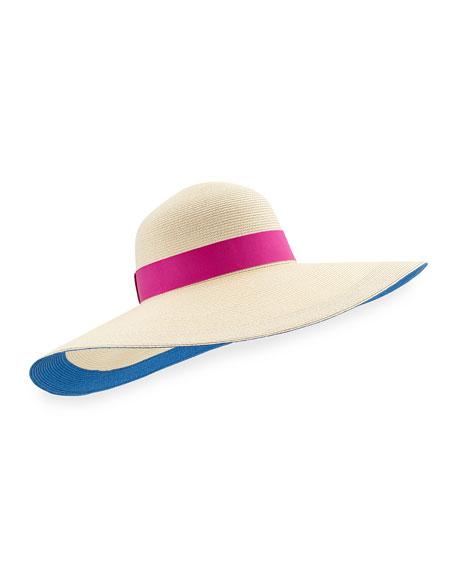 Bunny Wide-Brim Sun Hat, Ivory
