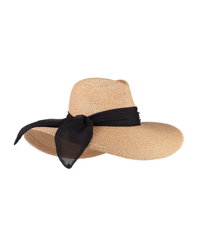 Cassidy Wide-Brim Fedora Hat, Camel