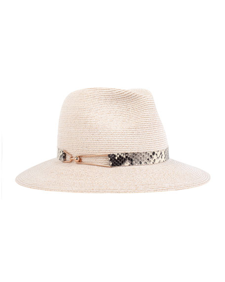Eugenia Kim Courtney Wide-Brim Fedora Hat, Bone