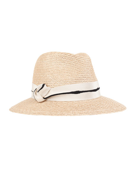 Eugenia Kim Lillian Fedora Hat w/ Knotted Band,