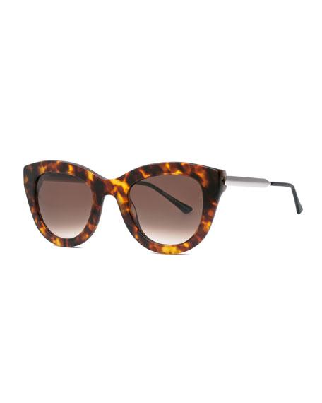 Cupidity Cat-Eye Sunglasses, Brown