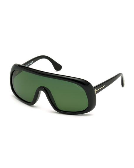 TOM FORD Sven Shield Sunglasses, Black