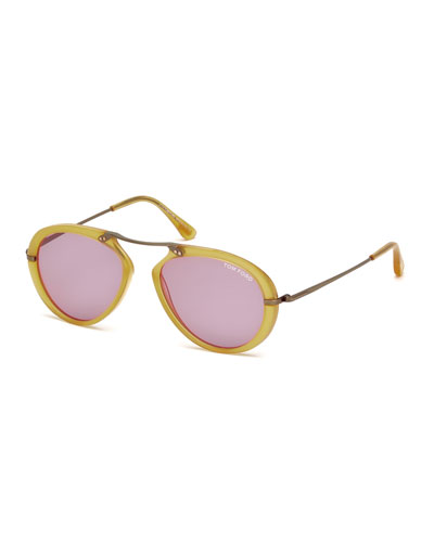 Aaron Trimmed Aviator Sunglasses