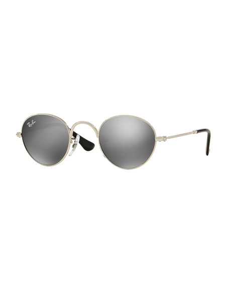 Ray-Ban Junior Junior Mirrored Round Sunglasses, Silver