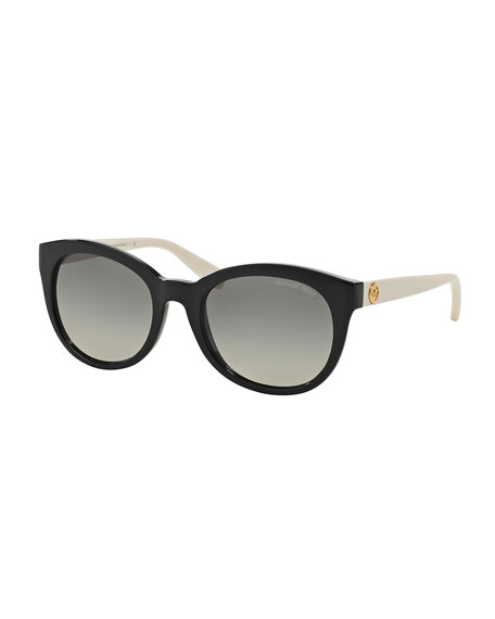 Michael Kors Rounded Cat-Eye Colorblock Sunglasses