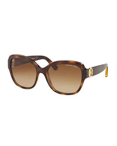 Gradient Butterfly Sunglasses, Dark Tortoise