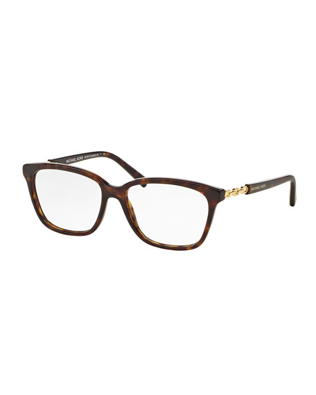 Michael KorsSquare Optical Frames, Dark Tortoise