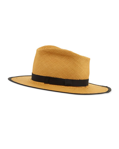 Trimmed Straw Hat, Cafe