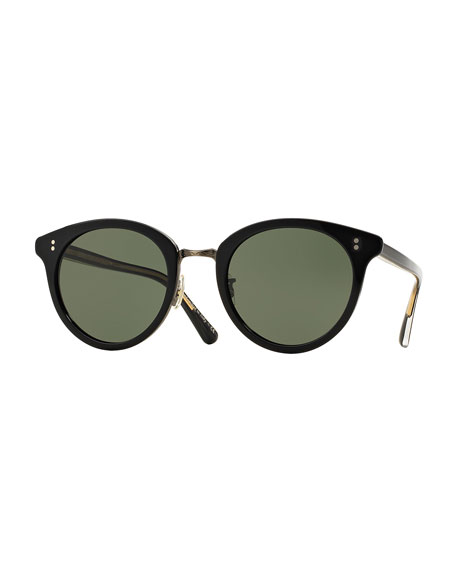 Oliver PeoplesSpelman Square Sunglasses, Black/Pewter