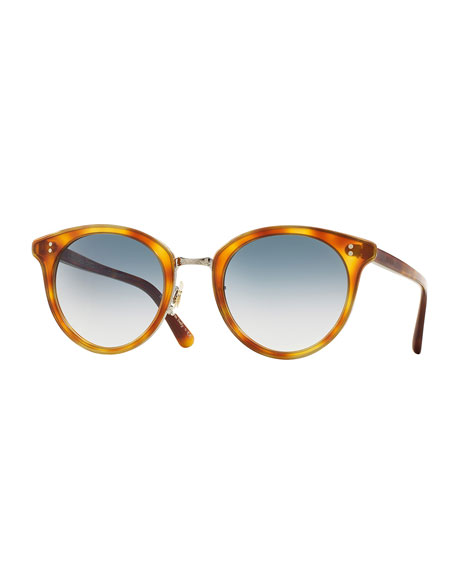 Oliver Peoples Spelman Photochromic Sunglasses, Light Brown/Silver