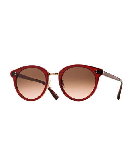 Limited Edition Spelman Sunglasses, Ruby/Rose Gold