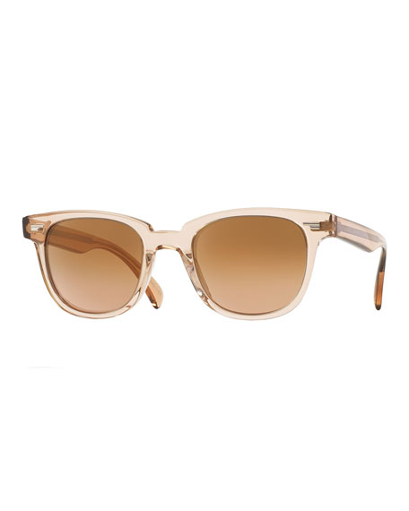 Oliver Peoples Masek Universal-Fit Square Sunglasses, Pink