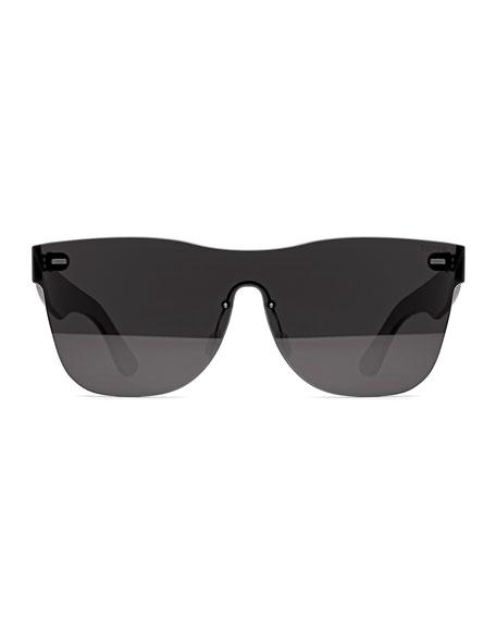Tuttolente Classic Square Sunglasses, Black