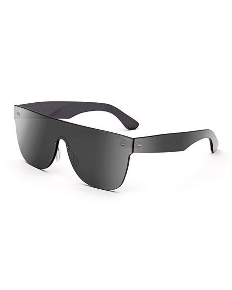 Tuttolente Flat Top Sunglasses, Silver