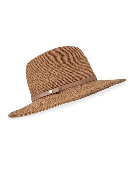 Helen Kaminski Hina Raffia Fedora Hat, Nougat/Pebble