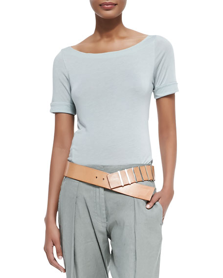 Donna Karan Graduated Leather Hip Belt