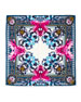 Square Paradise Flower Silk Chiffon Scarf, Blue/Pink