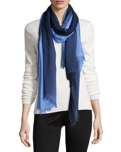 Voile Ombre Stole, Navy
