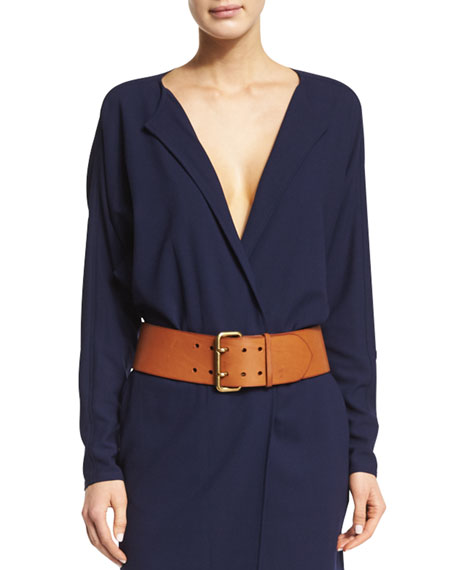 Ralph Lauren Collection Long-Sleeve V-Neck Dress & Wide