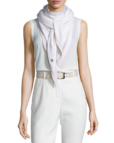 Scialle Summer Twice Cashmere/Silk Evening Scarf, White