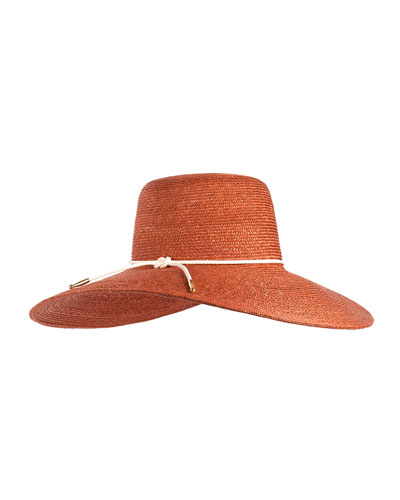 Amirah Straw Sun Hat, Rust