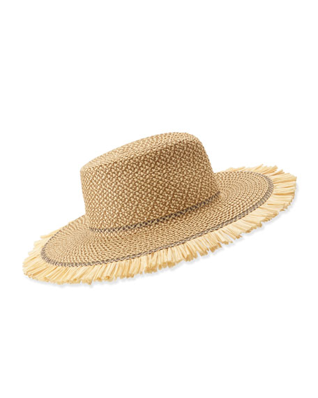 Havana Boater Hat, Peanut