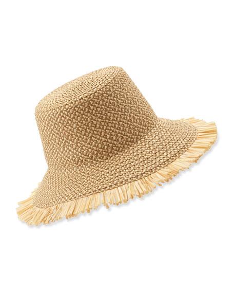 Eric Javits Tiki Bucket Hat Peanut Neiman Marcus
