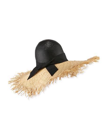 Gigi Burris Endless Ete Raffia Sun Hat, Natural