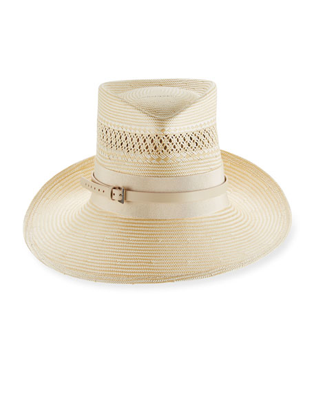 Philip Treacy Signature Trilby Hat w/ Band &