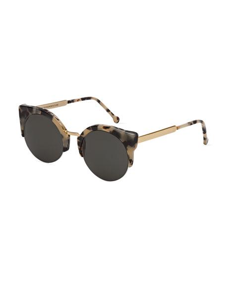 Super by RetrosuperfutureLucia Francis Puma Sunglasses, Tortoise