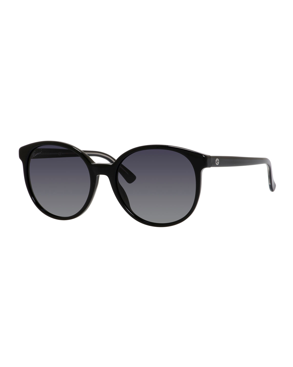 81320081ef9 Gucci Sunsights GG-Temple Round Butterfly Sunglasses