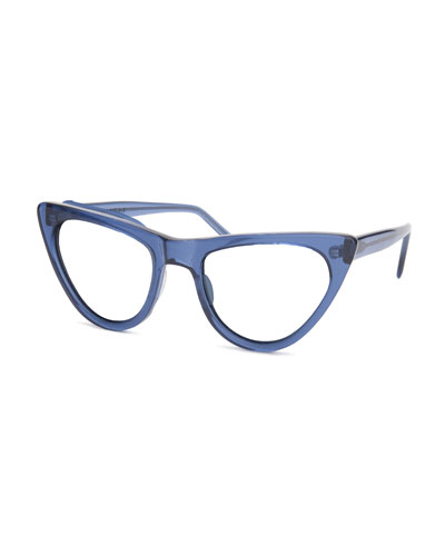 St. Louis Cat-Eye Optical Frames, Dark Blue
