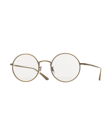 Oliver Peoples The Row After Midnight Round Sunglasses, Gold