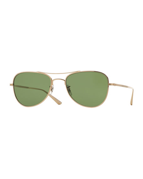 Oliver Peoples The Row Executive Suite Photochromic Aviator